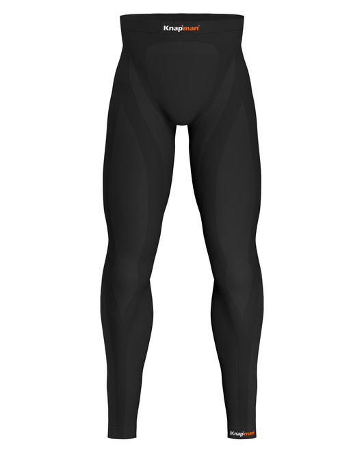 Knap'man Herren Kompressions Tights 25% Schwarz