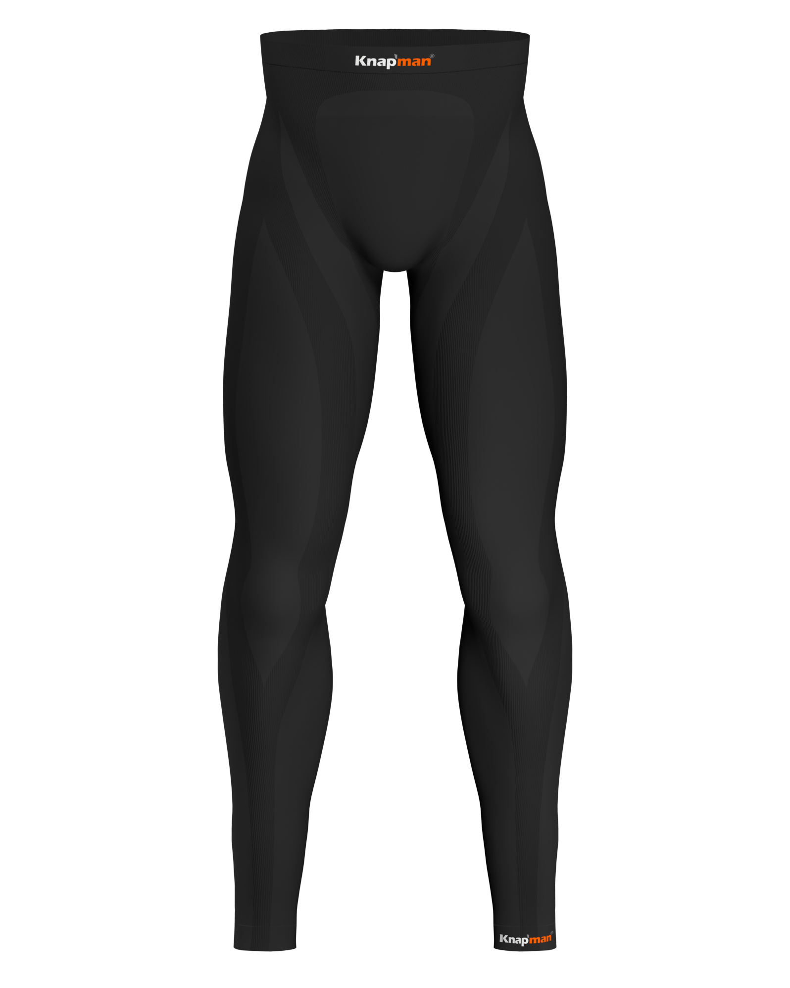 Knap'man Herren Kompression Tights 45% Schwarz