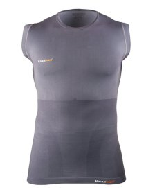 Knap'man Damen Kompressionsshirt Sleeveless Grau