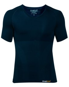 Knap'man Damen Kompressionsshirt UltraThin V-Ausschnitt Navy Blue
