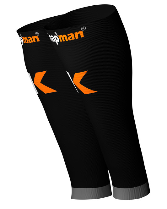 Knap'man Herren Active Strong Kompressions Calf Sleeves schwarz
